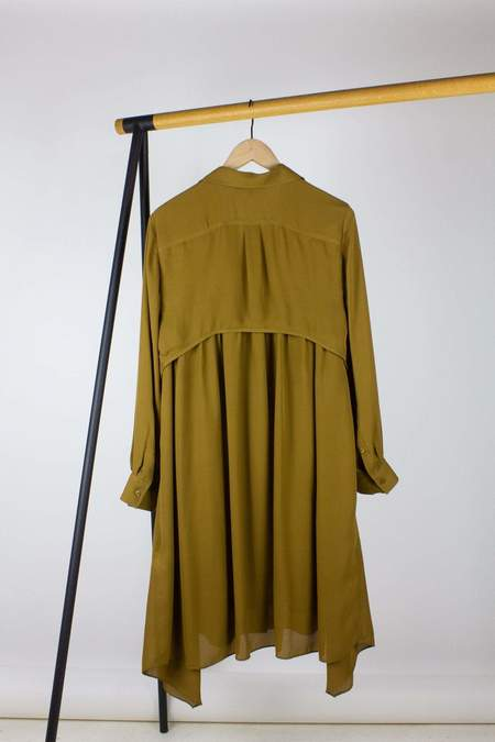 Dorothee Schumacher Fluid Luxury Dress - Brown Khaki