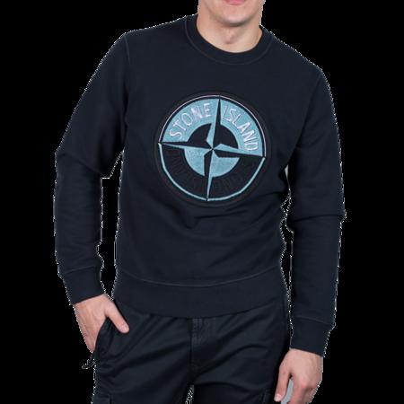 Stone Island Sweat-Shirt - Logo Blue