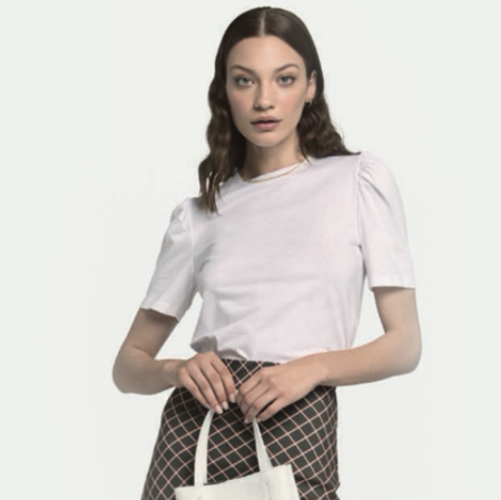 Ottod'Ame Puff Sleeved T-shirt - White