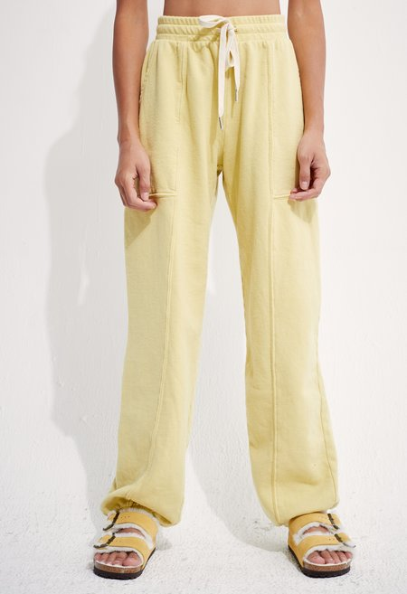 back beat rags Recycled Cotton Adventure Jogger - Lime