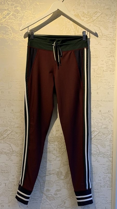 The Upside Heritage Yoga Pant - Maroon/Forest Green