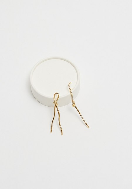 Cled Rope Earring - Gold