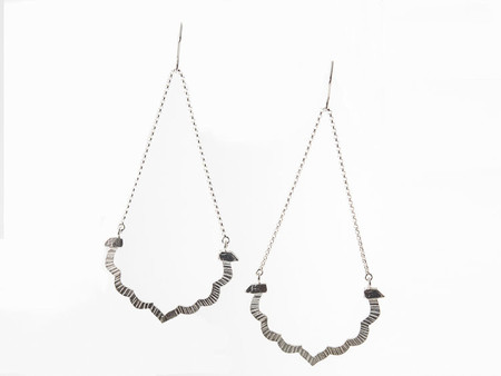 Sarah A. Sears Edie Earrings (Silver)