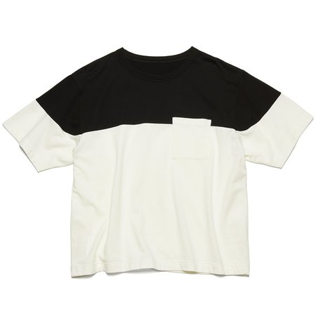 Uniform Experiment Chest Paneled Wide Pocket T-Shirt - White