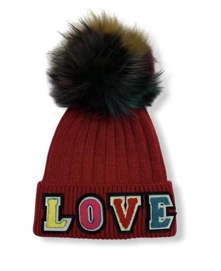Jocelyn Fur Tribeca Love Beanie - Red