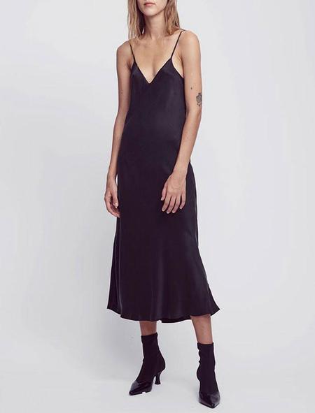 Silk Laundry 90s Slip Dress - black