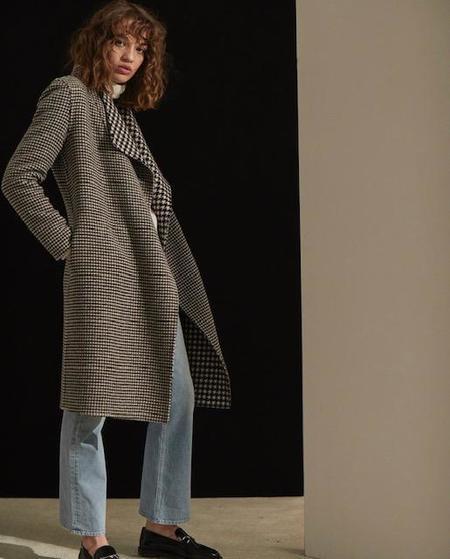 Line Knitwear Adelaide Coat - Houndstooth