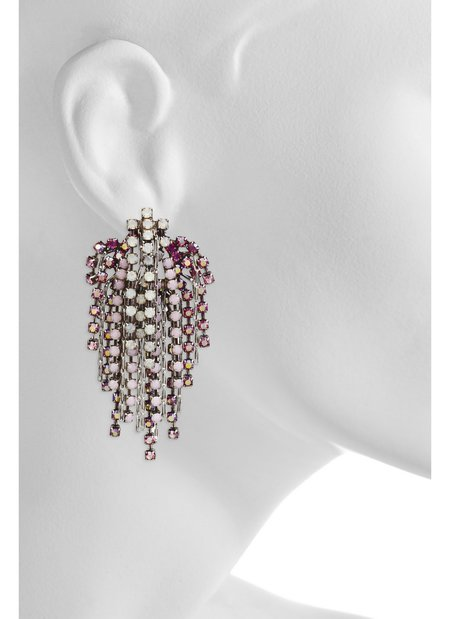 Dannijo Cecile Earrings - OS Silver Asst Pink