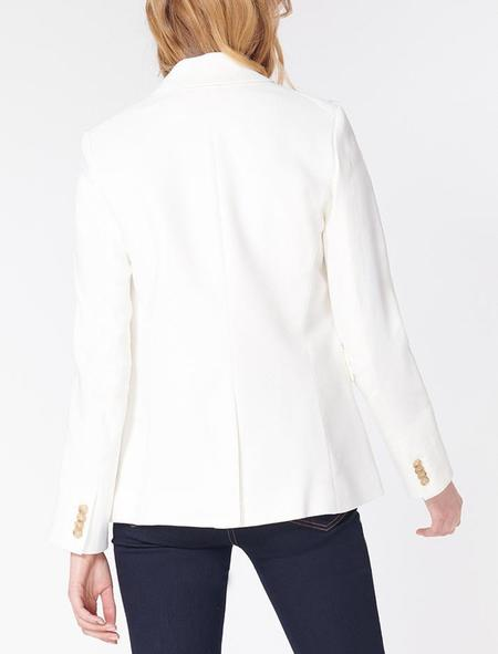 Veronica Beard Cutaway Dickey Jacket - White