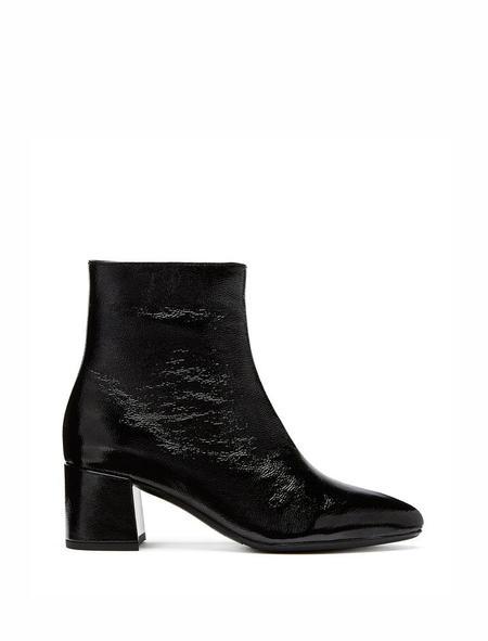 la canadienne Darling Crinkle Leather Bootie - Black