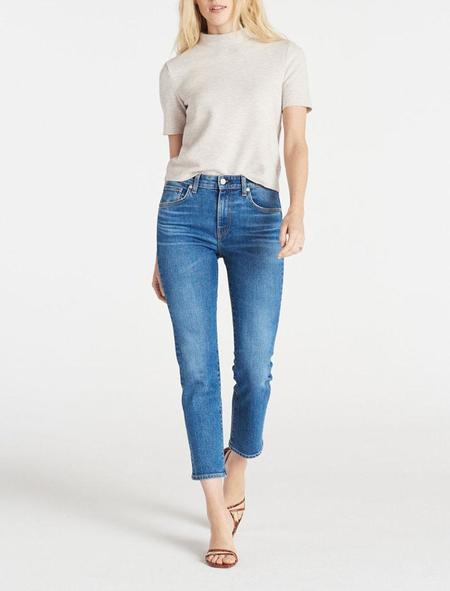 CQY Denim High Rise Straight Leg Jean - Friend in moment