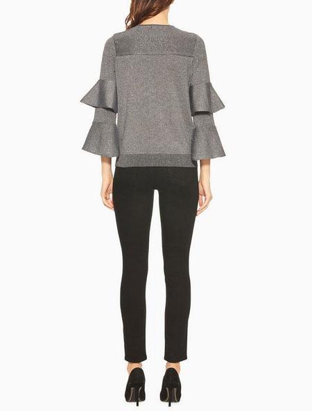 Parker NY Jayla Knit Sweater - Gunmetal