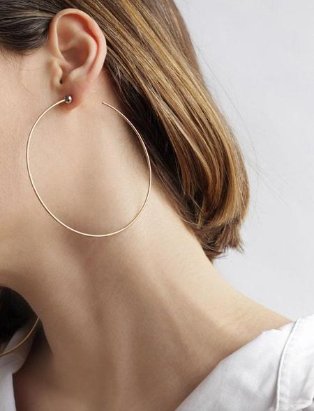 Jenny Bird Large Icon Hoops - 14K gold-dipped brass/silver