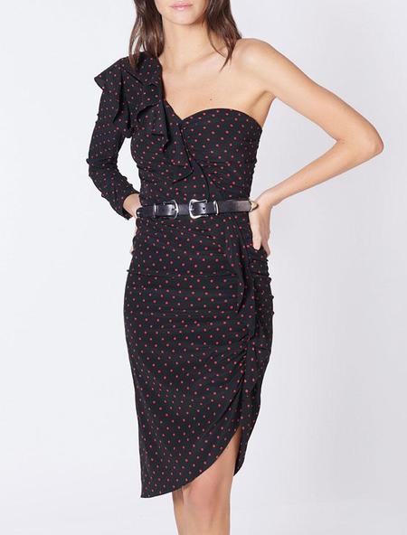Veronica Beard Leona Dress - Black/Red