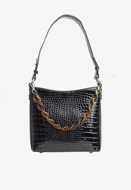 HVISK Amble Croco Small bag - Black