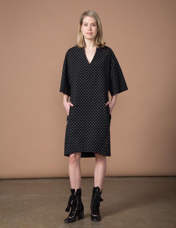 SBJ Austin Sadie Dress - Black Swiss Dot