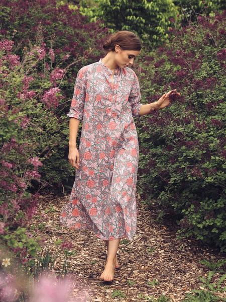 Mille Sadie Long Caftan - Tropical Rose