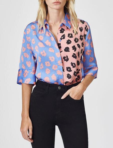 Equipment Quesnel Silk Shirt - Sahara Sky Apricot Rose