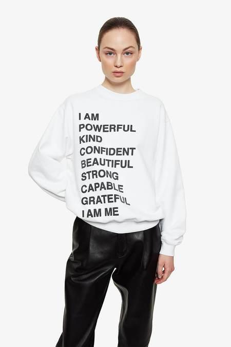 Anine Bing Ramona Empowerment Sweatshirt - White
