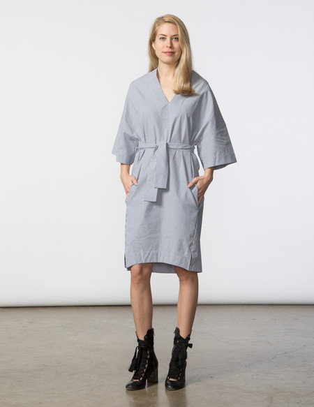 SBJ Austin Sadie Dress - Blue/White Stripe