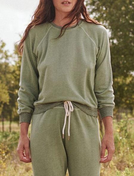 The Great. Shrunken Sweatshirt - heathered sea green
