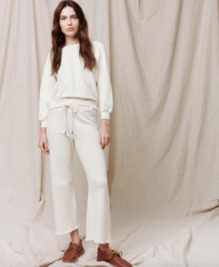 The Great. The Shrunken Sweatshirt - Washed White
