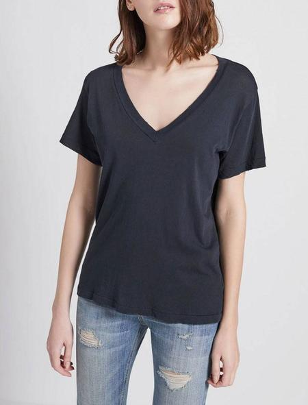 Current Elliott V Neck tee shirt - black beauty