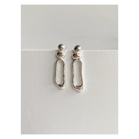 Lauren Manoogian x Erin Considine Scoria Earrings - Silver