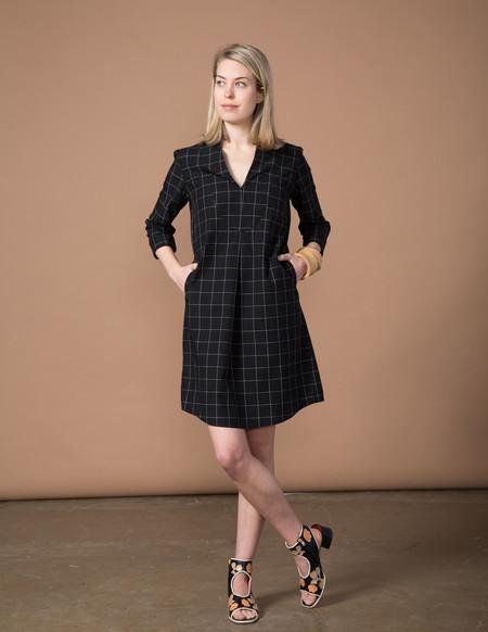 SBJ Austin Lizzie Dress - Black Window Pane
