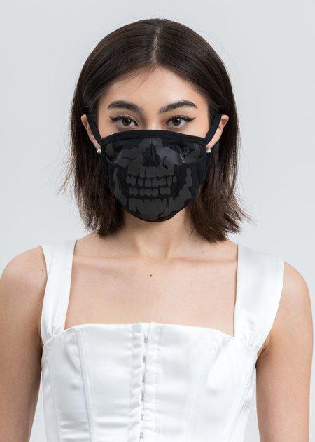 99%is Reflective Skull Mask - Black