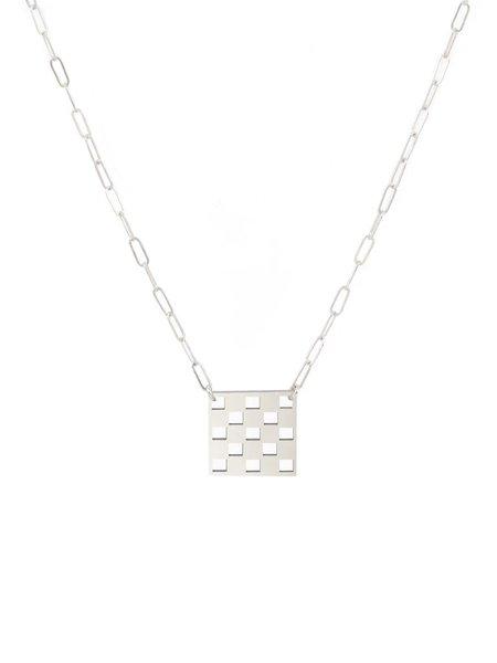 Gilbert Checkered Necklace - Silver