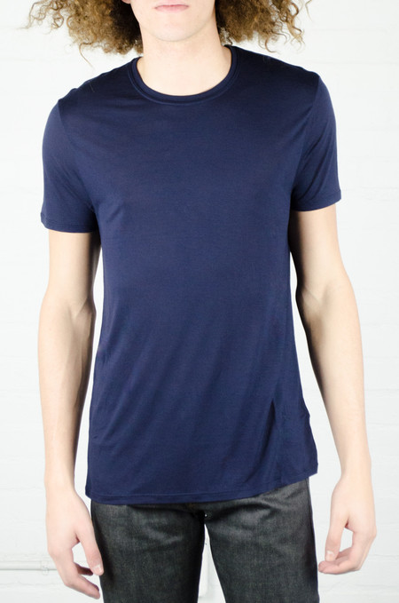 ATM Anthony Thomas Melillo ATM Midnight Blue Crew Neck Tee