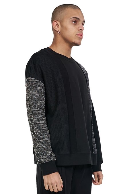 ANDERSSON BELL Fabric Contrast Sweatshirt - black