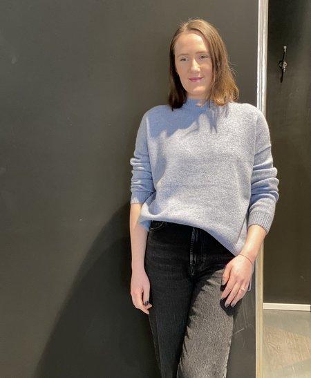 Oats Cashmere Billie Sweater - Chambray