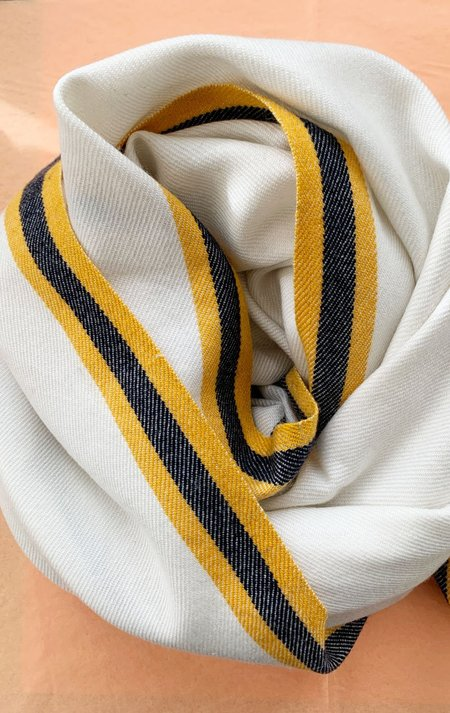 M.Patmos merino shawl - ivory/Caramel