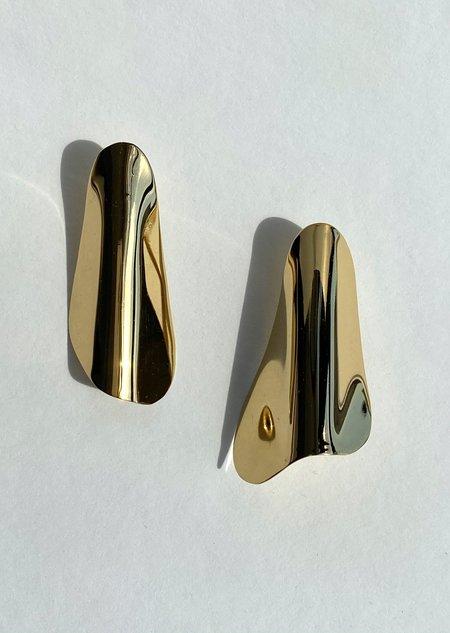 Modern Weaving Bend Architect Earrings - Bronze