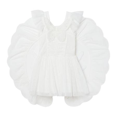 Kids Stella McCartney Child Tulle Dress With Butterfly Patch - White