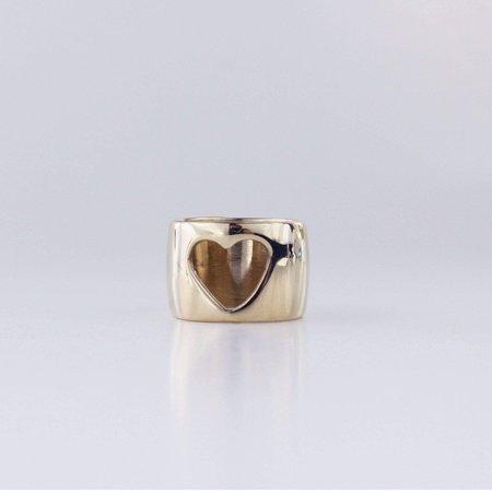 L.Greenwalt Jewelry Heart Ring - Gold