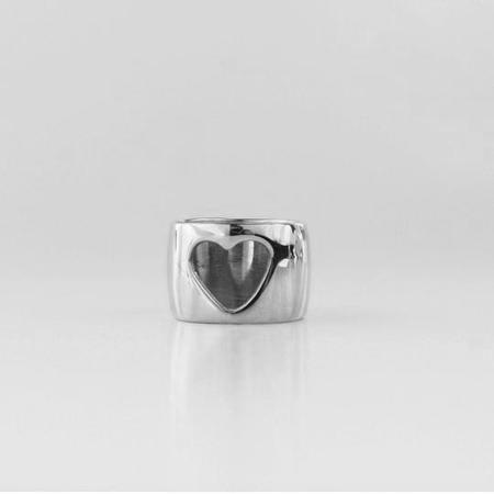 L.Greenwalt Jewelry Heart Ring - Silver