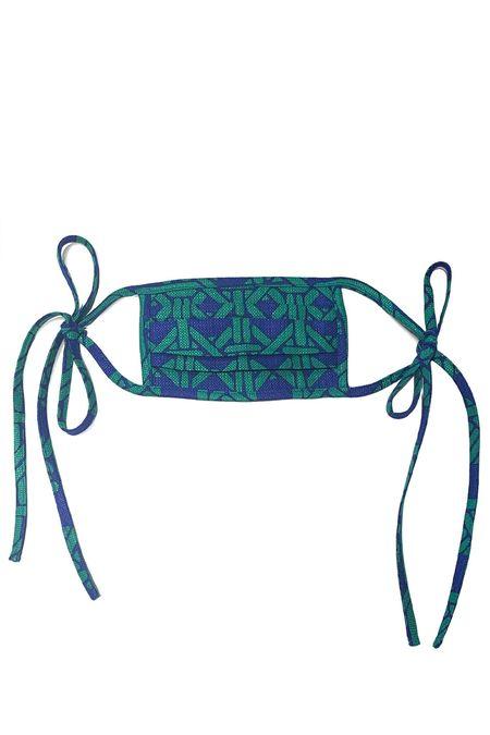 Anna Sui Blue & Green Chain Mask - blue/green