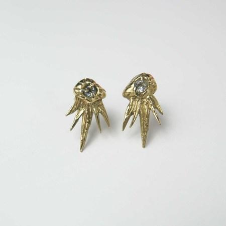 Monica Squitieri Montara Earrings - Brass