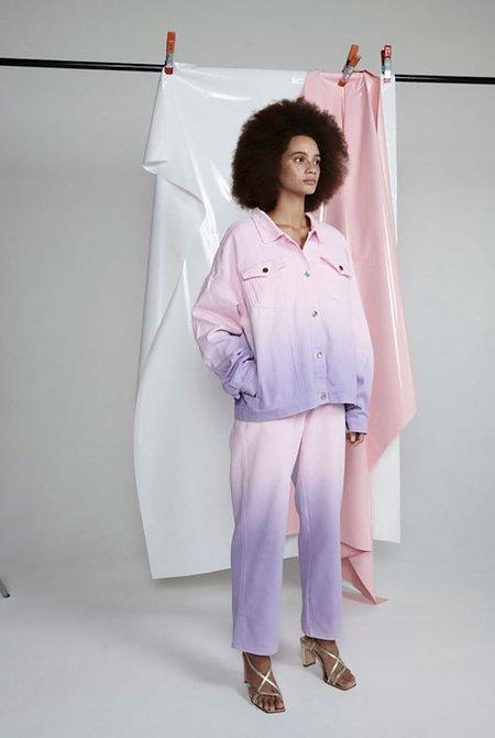 Olivia Rubin Julia Ombre Denim Jacket - pink/lilac