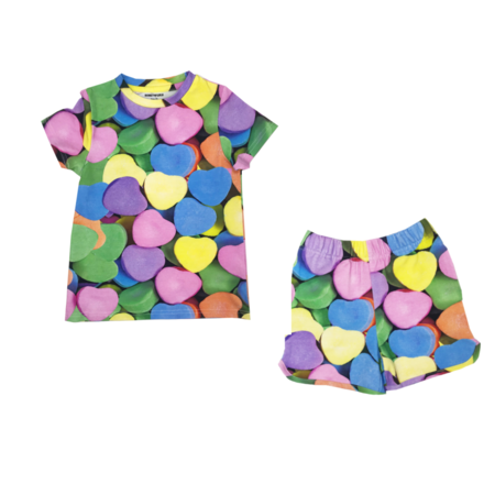 Kids Romey Loves Lulu Candy Hearts Shorts