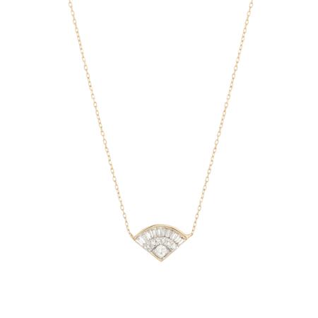 Adina Reyter Deco Baguette Fan Necklace - Gold
