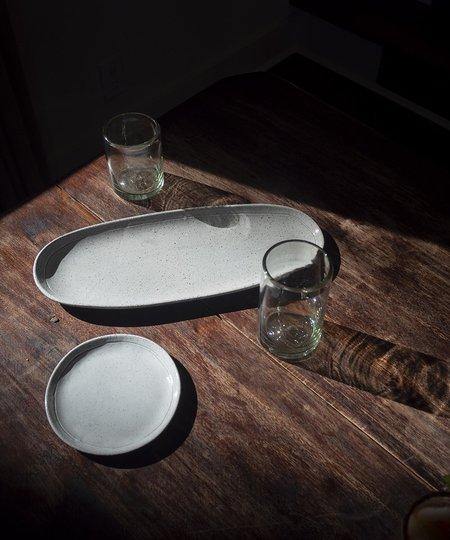 Ceri Hoover Speckled Ceramic Oval Charcuterie Platter