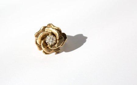 Kindred Black The Millington Rose ring - 14k gold rose
