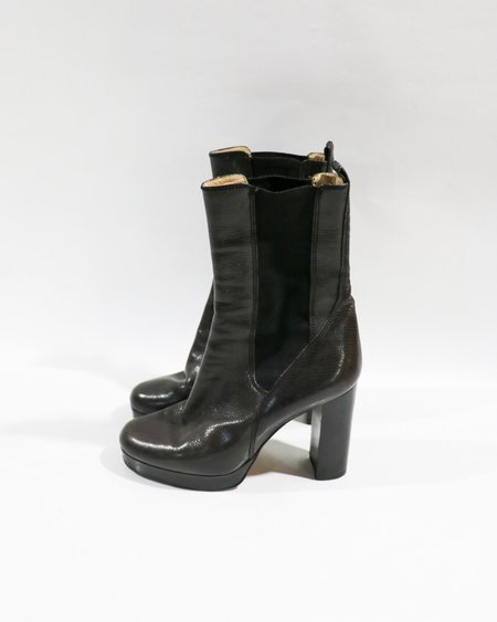 [pre-loved] D&G Leather Boots - Black