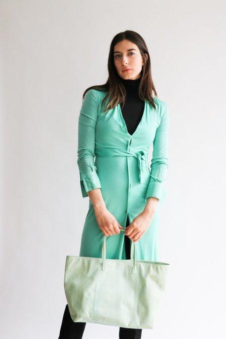 Vintage Gianni Versace Shirt Dress - Light Green
