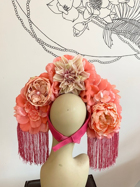 Kate McNee Headdress - Pink