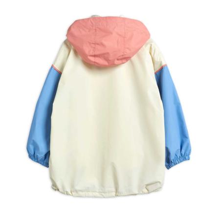 kids Mini Rodini Rabbit Windbreaker - Gray/Blue/Pink